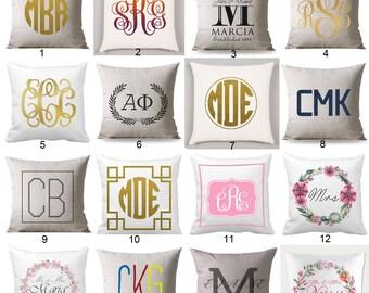 Monogram pillow cover, Custom Monogrammed Pillow Case, Monogram Cushion Cover, Monogram Throw Pillow, Monogrammed Pillow, Wedding Gift