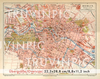 instant download, vintage city map Berlin 1889, clipart, scrapbooking, collage sheet, vintage picture, capitol of germany, truvinpic