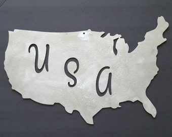 United States Metal Wall Home Decor. Unique Texture.  Home or Office Decor. Housewarming, Birthday, Christmas Gift!  Ready to Ship!
