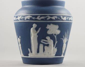 Jasperware Pot No Makers Mark