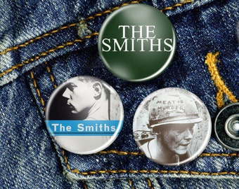 The Smiths Morrissey 80s Indie Pin Button Badge Set 3 x 25mm Badges or Individual