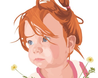 Custom portrait, Personalized portrait, Couples portrait, Family portrait, Instant download, Portraits, Illustration, Pet portrait, Kids