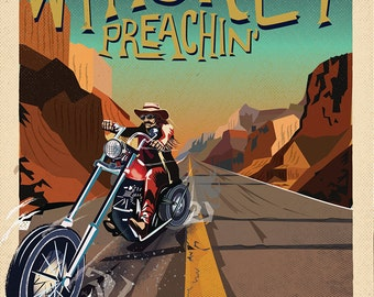 Easyrider Americana Whiskey Preachin' A2 poster on Heavyweight paper