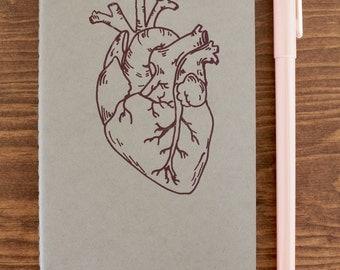 Anatomical heart notebook - journal - sketchbook
