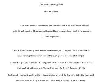 To Your Health: Veganism Ebook PDF