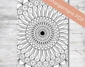 Sticker Mood Mandala 31 jours pour Planner et Bullet Journal | TÉLÉCHARGEMENT PDF
