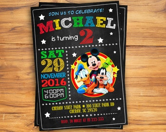 Mickey Mouse Invitations. Mickey Mouse Party Invitation. Mickey Invitation. Mickey Mouse Printable. Mickey Birthday Party