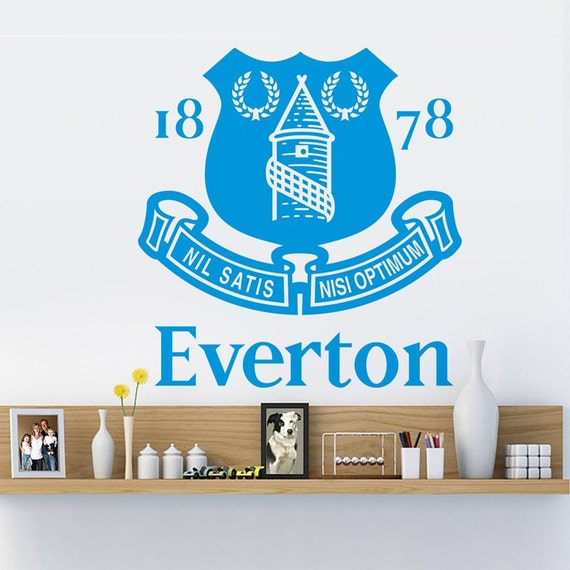 Vinyl Wall Decal - Everton Soccer Football team logo Wall Sticker School Sports Wall Decals For Boy kids room Bedroom