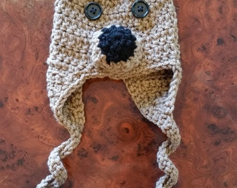 Crocheted Teddy Bear Hat