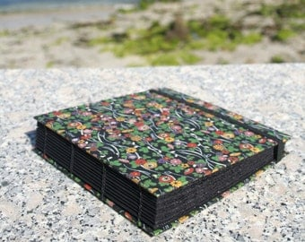 Photo album for Polaroid, Instagram, Fujifilm Instax. Handmade with Japanese paper chiyogami. Coptic style. 5,90x5,90 in. 20 sheets.