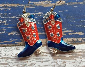 4th of July Jewelry, 4th of July Earrings, Southwest Earrings Southwestern Earrings, Southwest Jewelry, Southwestern Jewelry