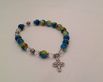 Color Splash One Decade Rosary Bracelet