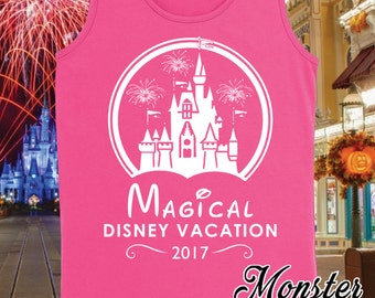 Magical Disney Vacation 2017 Matching Family Vacation Girls Tank Top