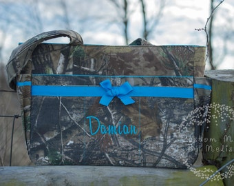 Hunting Camo Deluxe Diaper Bag and Changing Pad, Tote, Large bag, Baby, Gift, Custom, Handmade, Set