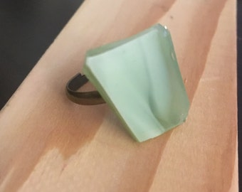Marbled Glass Ring