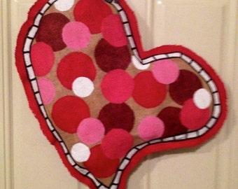 Burlap Heart Door Hanger & Heart door hanger   Etsy