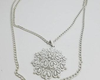 Beautiful Trifari Statement Necklace with Oversized Flower Motif Pendant