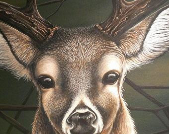 Deer Painting / Whitetail Deer Painting / Wildlife Painting / Original Painting / Wildlife Art / 18 x 24