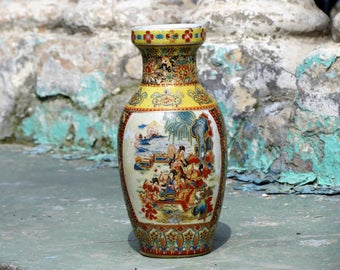 Hand crafted asian vases