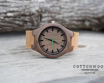 Personalized Mens Watch, Wooden Watch, Mens Engraved Watch for Him, Boyfriend Gift, 5th Anniversary Gift, Husband Gift, Watches for Men