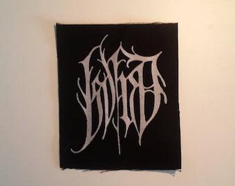 Isvind patch black logo black metal