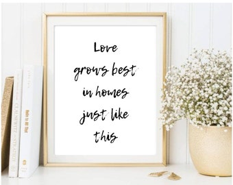 Love Grows Best in Homes Just Like This Print