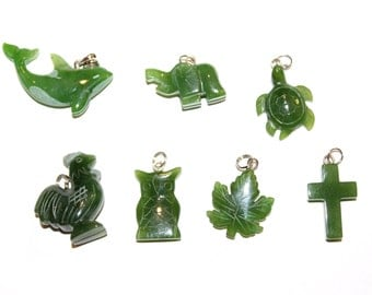 Canadian Nephrite Jade Charms