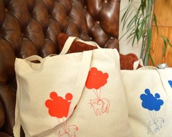 Jute bag cat & dog