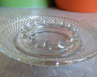 Hobnail Glass Ashtray with Multiple Center Ports! Vintage!