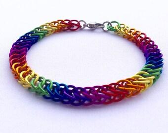 Lesbian Pride Bracelet, Gay Pride Bracelet, Rainbow Bracelet, LGBTQ Bracelet, LGBTQ Jewelry, LGBTQ Jewellery, Gay Pride Colors,  Rainbow