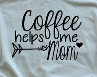 Coffee helps me mom V-Neck
