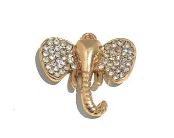 Gold Elephant Charm, Elephant Charm, Animal Charm, Bracelet Charm, Bulk Charms, Wholesale Charms, Jewelry Findings, Jewelry Making, Diy 1pc