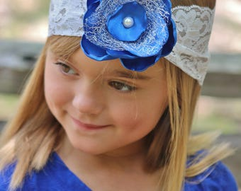 OOT Blue Flower Headband