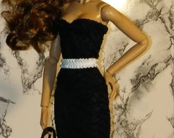 Black and white dress for Fashion Royalty, Poppy Parker, Barbie, Silkstone...