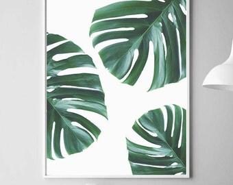 Monstera Print, Monstera Wall Art, Monstera Leaf Art, Monstera Art Print, Monstera Art, Monstera Printable, Monstera Deliciosa