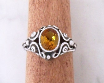 """Silver ring with Cyrin """"Mask ornament"""""""