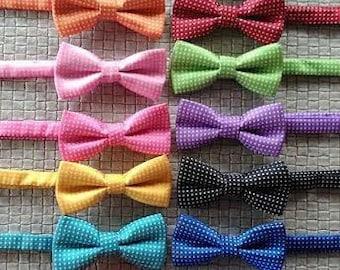 Blue boys bow tie-Matching Daddy- boys bowties-baby bow tie-Necktie-Navy wedding-ring bearer-Baby Boy-Baby Shower-Prop photo