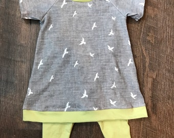 Organic baby dress etsy girl 3 6 monthsorganic baby girl dressleggingsbaby clothing negle Choice Image