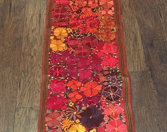 "Gorgeous Handmade Guatemalan Table Runner 8'9"" x 18"""