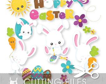 Easter cutting files, svg, dxf, pdf, eps included - cutting files for cricut and cameo - Cutting Files SVG - CT948