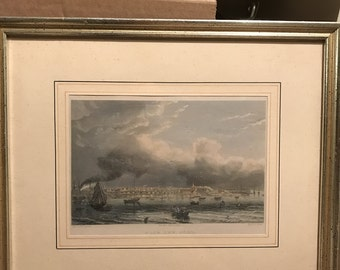 Antique German Seascape Print from 1860's