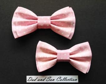Bow Tie, Dad and Son Bow Ties, Pink Bow Tie, Father Son Bow Ties, Mens Bow Tie, Groomsmen Bow Tie,Ring Bearer Bow Tie, Boys Bow Tie  DS672