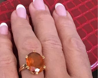 Gold Ring with a Topaz
