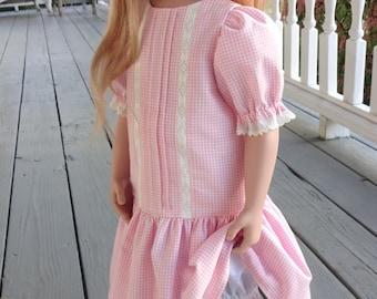 "Antique style dropwaist Dress to fit 24-26"" French/German/modern/bisque"