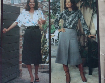 Vintage Knitwit 1980s Sewing Pattern 4500 Ladies Straight Skirt Sizes 6 to 22