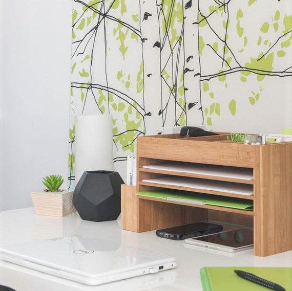 The Space Cube Timber Desk & Kitchen Bench Top Organiser