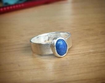 Bezel Set Sterling Silver Ring