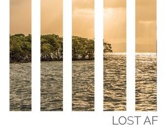 Lost/Tranquil AF Island Print - Fine Art Matte Print, Island Photography, Nautical Decor