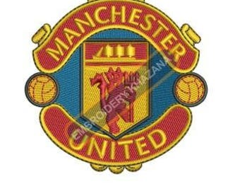 Manchester Football Club logo machine embroidery design instant download