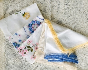 Vintage Handkerchiefs, Hand-tatted Handkerchiefs, Antique Handkerchiefs